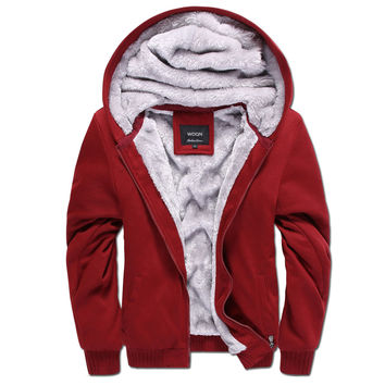 Hoodies Men 2017 Autumn Mens Hoodies Sweatshirts Casual Cotton Thick Slim Fashion Male Hooded Jackets Men Coat Polo Hoody W20