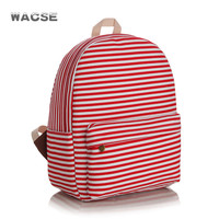Casual Stripes Canvas Fashion Thicken Striped Stylish Backpack = 4887496836