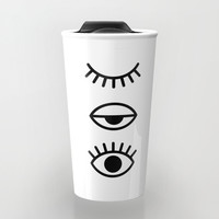 Eyes Travel Mug by Printapix