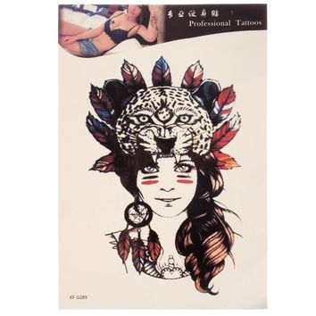 e2b9d8897 Waterproof Temporary Tattoo Sticker Tribal Girl Body Arm Leg Art Removable