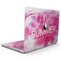 Vivid Pink Hello Summer - MacBook Pro with Touch Bar Skin Kit