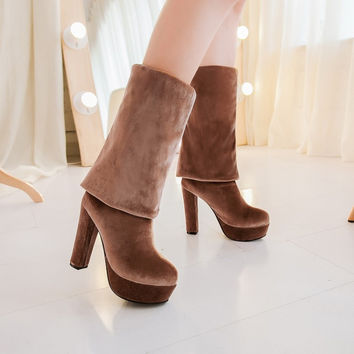 Thigh High Boots Platform High Heels Women Shoes
