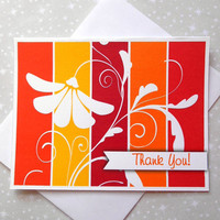 Sunny Blossoms Color Block Thank You Cards 8ct