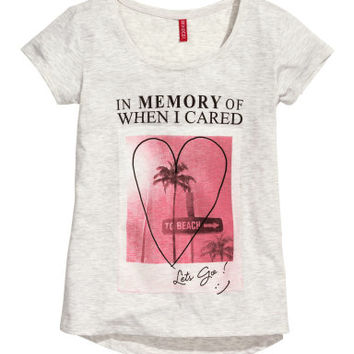 H&M Top with Printed Design $12.95