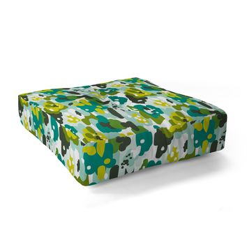 Heather Dutton Painted Camo Floor Pillow Square
