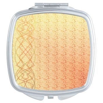Orange Lights Makeup Mirror