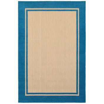 Oriental Weavers Cayman 5594B Sand/ Blue Border Area Rug
