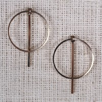 Open Circle Bar Back Earrings
