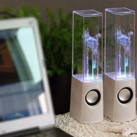 Glodeals Music Fountain Mini Amplifier Dancing Water Speaker:Amazon:Computers & Accessories
