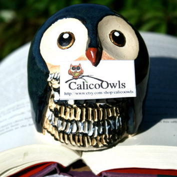 Accio the Blue Post Owl- Harry Potter Inspired Clay Owlery Sculptures