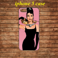 iphone 5 case,iphone 5 hard case,iphone 5 cover,iphone 5 hard cover---Audrey Hepburn,in plastic