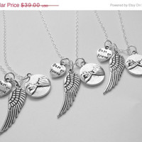Summer Sale Save15% 3 Best Friend Angel Wing Pinky Promise  Necklaces Bff