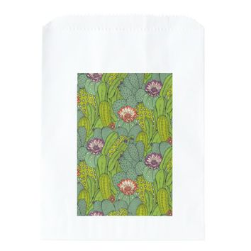 Cactus Flower Pattern Favor Bag