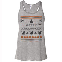 Happy Halloween Racerback Tank Top