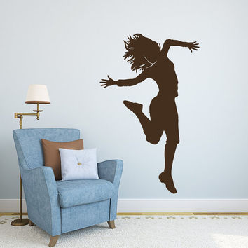 Dance Wall Decal Vinyl Sticker Decals Ballet Dancing Ballerina Acrobatics Gymnastics Wall Decal Girls Wall Decor Dance Studio Decor Art T183