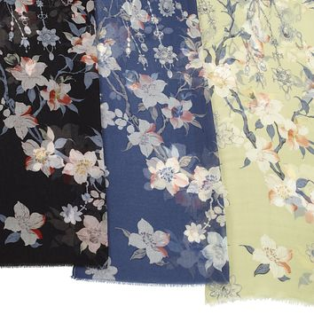 Japanese Floral Scarf