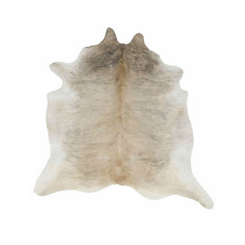 Light Brindle Tan Cowhide Rug
