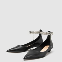 BALLERINAS WITH CHAIN ANKLE STRAP DETAILDETAILS
