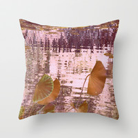 lotus dream (2) Throw Pillow by Marianna Tankelevich