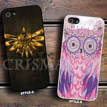 Triforce The legend Of zelda Retro Cute Owl Paint Art