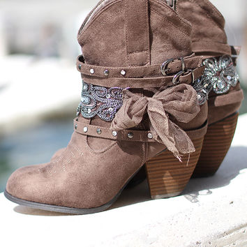 Stash Taupe Booties