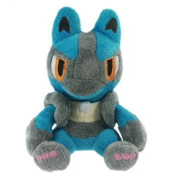 Pokemon Lucario Soft Plush Kawaii Kids Toy