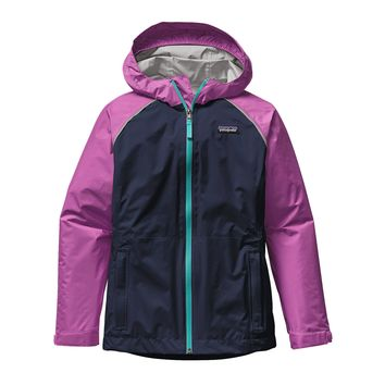 Patagonia Girls' Torrentshell Waterproof/Rain Jacket | Navy Blue
