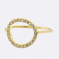 Crystal Circle Ring