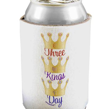 Three Kings Day - C M B Crowns Can / Bottle Insulator Coolers by TooLoud