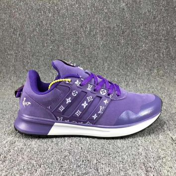 One-nice™ Adidas x LV Louis Vuitton Fashion Trending Leisure Running Sports Shoes Purple I-CSXY