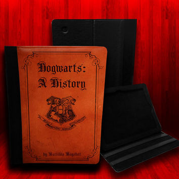 Harry Potter inspired Hogwarts A History Leather Case For iPad 2, iPad 3 and iPad 4