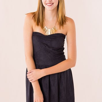 Made In The Suede Dress in Black