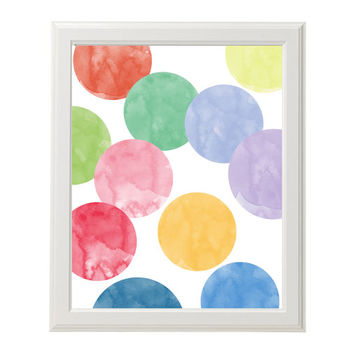 Modern Nursery Wall Art Watercolor Circles Digital Girl Boy Pastels Instant Download Printable Baby Shower Gift Baby Room Baby Nursery Art