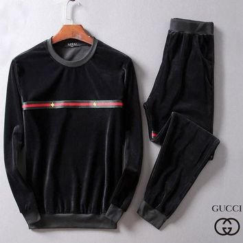 DCCKNY1Q Boys & Men Gucci Fashion Top Sweater Pullover Pants Trousers Set Two-Piece