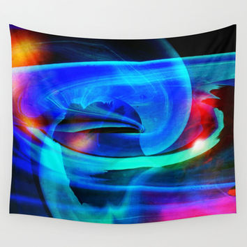 Alien Attack Abstract Wall Tapestry by Minx267
