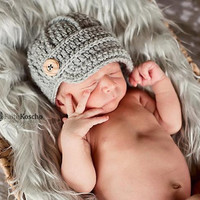 Baby Boy Hat, Newsboy Baby Boy Cap with Brim, Baby Boy Hats newborn, infant, 0-3 months, 3-6 months