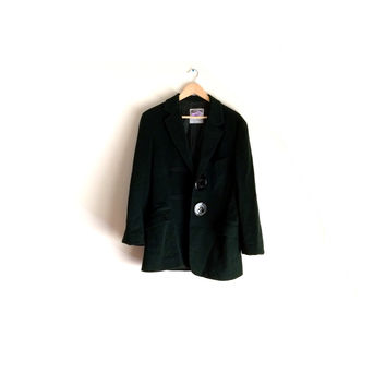 Moschino Italy Vintage Hunter Green Wool Coat