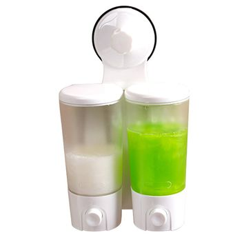 Plastic Shampoo Bottle Shower Gel Box Wall Mounted Liquid Bathroom Kitchen Sanitizer Liquid Soap Dispenser Bathroom Accessories
