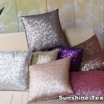 Sequins pillow / cushion  /sofa cushion decorative pillow cushion Paillette Pillow Sham/pillowcase/Throw
