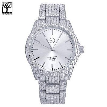 Jewelry Kay style Men's Fashion Hip Hop Silver Plated Metal Band Watch Stainless Steel WM 8588 S