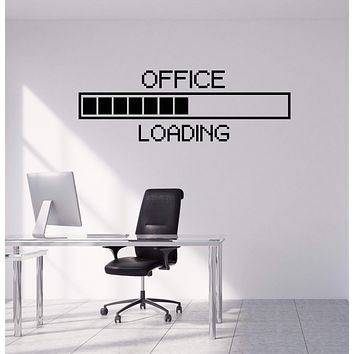 Vinyl Wall Decal Office Pixel Art Decor Study Working Space Stickers Mural (ig5305)