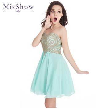 Vestido De Festa Curto Burgundy Mini Short Cocktail Dresses 2017 Gorgeous Beaded Short Prom Dresses Party Dress Mint Green