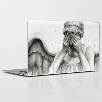 Weeping Angel - Don't Blink   Doctor Who Laptop & iPad Skin by Olechka