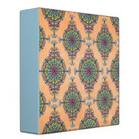 VINTAGE MOROCCAN PATTERN IN PEACH BINDER