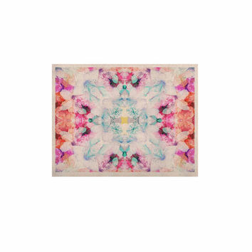 "Danii Pollehn ""Hibiscus Kaleidoscope"" Pink Blue KESS Naturals Canvas (Frame not Included)"