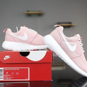 Nike Roshe Run One 511882-610 White&Pink Running Shoes