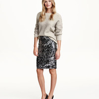 H&M Sequined Skirt $39.99