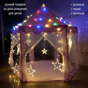 Children's Room Tipi Tent for Kids Indoor Toy Play Tents House Castle for Baby 0-10 Years old
