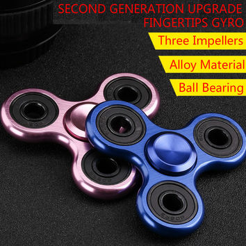 Fidget Spinner Beyblade Gyro Hand Spinner Edc Metal Stress Tri Spinner 10pcs/lot