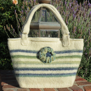 Newport Bag, Felted Purse Pattern, Knit Bag Pattern, Felted Purse, Knitted Purse, Knitting Pattern, Instant Download, PDF